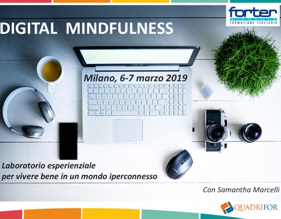 digital mindfulness Milano marzo 2019