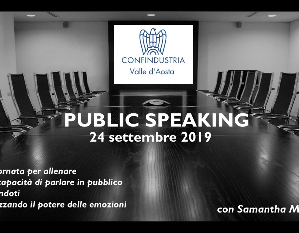 public speaking Confindustria