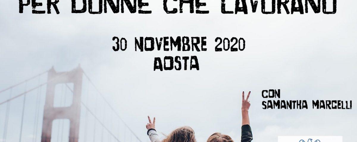 l'arte della guerra per donne che lavorano Confindustria Valle d'Aosta 30 novembre 2020