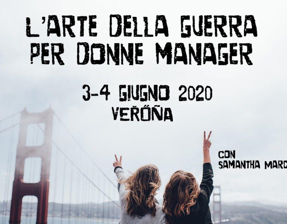 l'arte della guerra per donne manager Verona giugno 2020