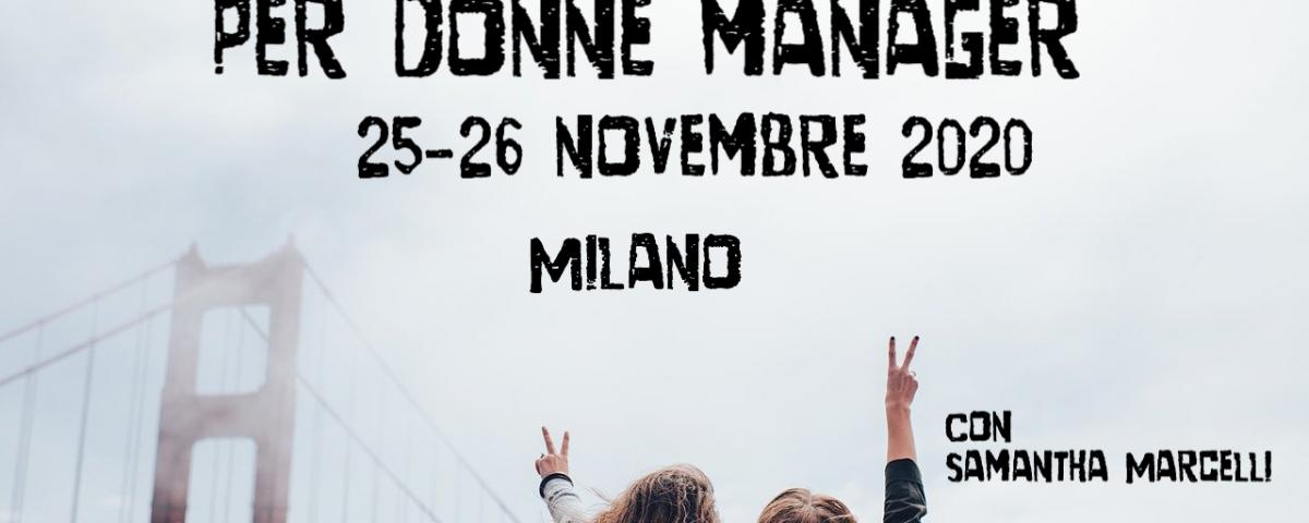 donne manager MIlano novembre 2020 con Samantha Marcelli