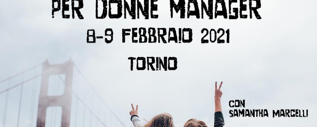 donne manager Torino febbraio 2021 con Samantha Marcelli