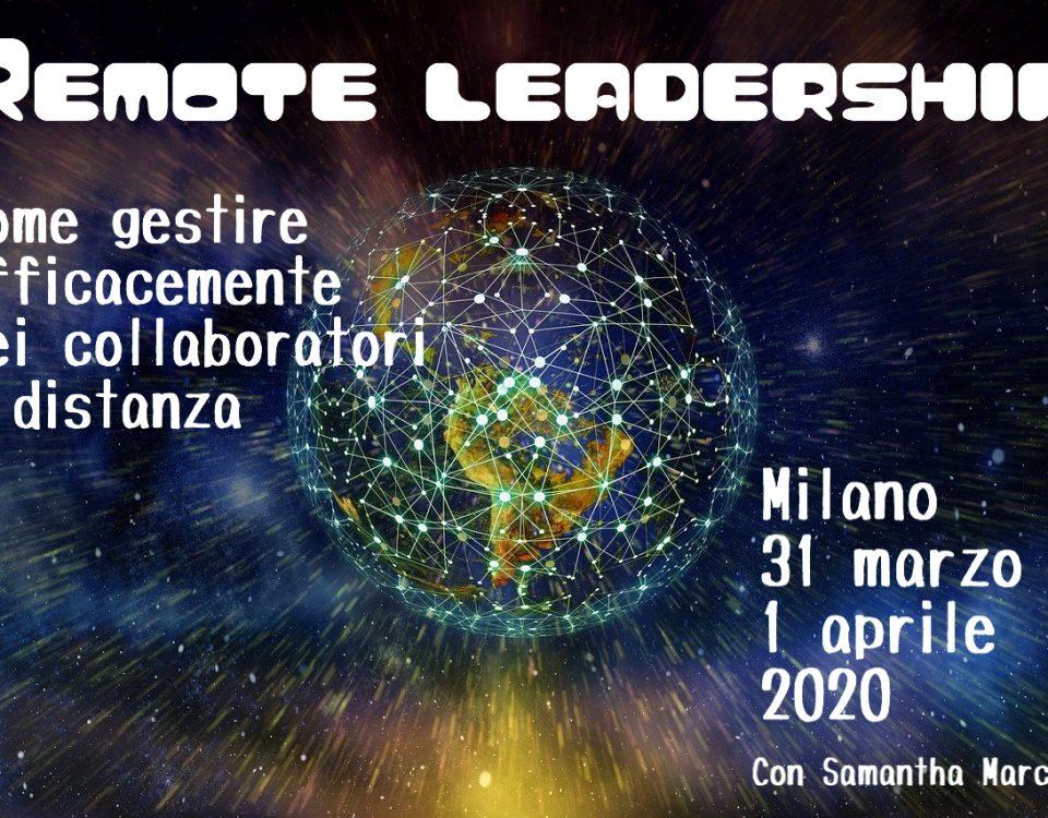 remote leadership Milano con Samantha Marcelli